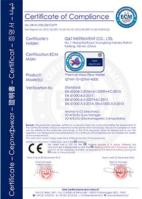 CE-热式气体质量流量计
