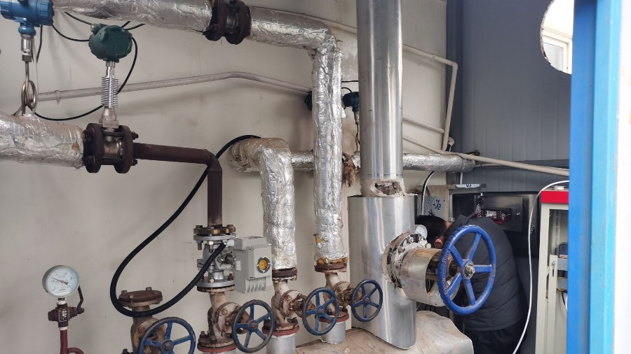 涡街流量计测蒸汽,现场安装调试